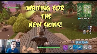 WAITING FOR THE NEW SKINS! FORTNITE BATTLE ROYALE