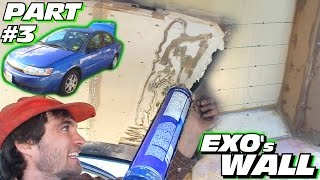 EXO's Subwoofer WALL Build #3 | How To Install Birch Plywood ROOF & Installing 45's Inside SUB Box
