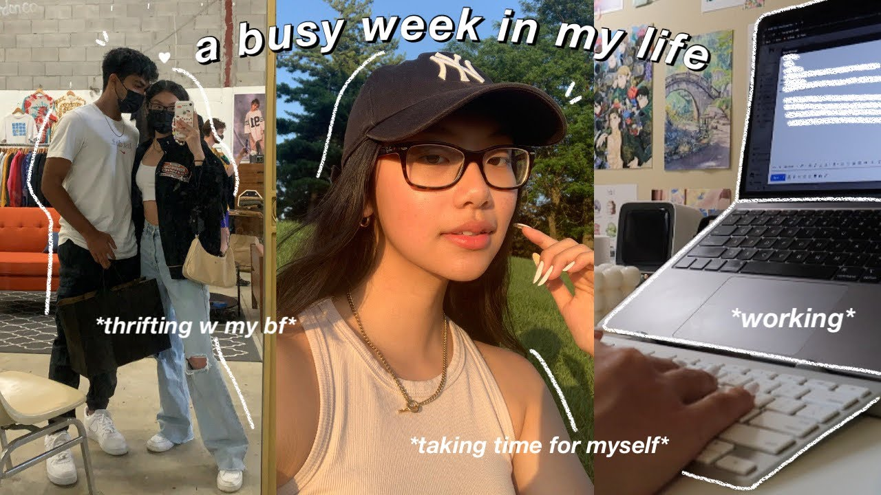 WEEKLY VLOG | a week in my life as a college student | thrifting, working & adulting🍒