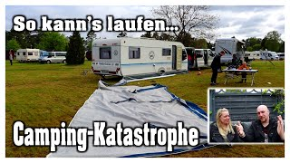 Chaos-Camping in der Heİde | Vorzelt weg! | Abbruch | Hobbyfamilie