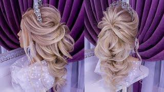 Красивая Прическа Шок Коса.Свадебная Прическа.Beautiful Hairstyle