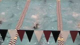 MESC Blue Lobsters:  Sam Manhart 100 backstroke @ Harvard, 2010