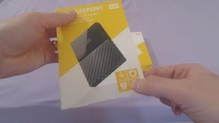 WD My Passport 4TB External Hard Drive for PS4  (Unboxing)