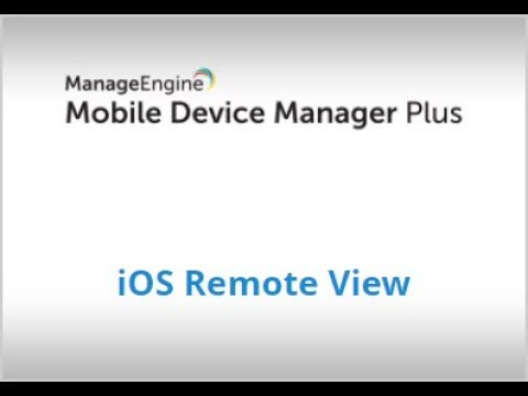 Remote Troubleshooting IOS Devices | Mobile Device Manager Plus