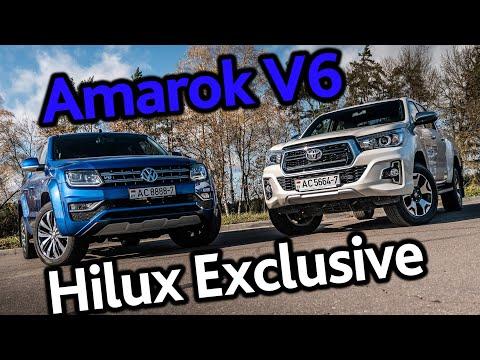 Volkswagen Amarok V6 TDI против Toyota Hilux 2.8 Exclusive