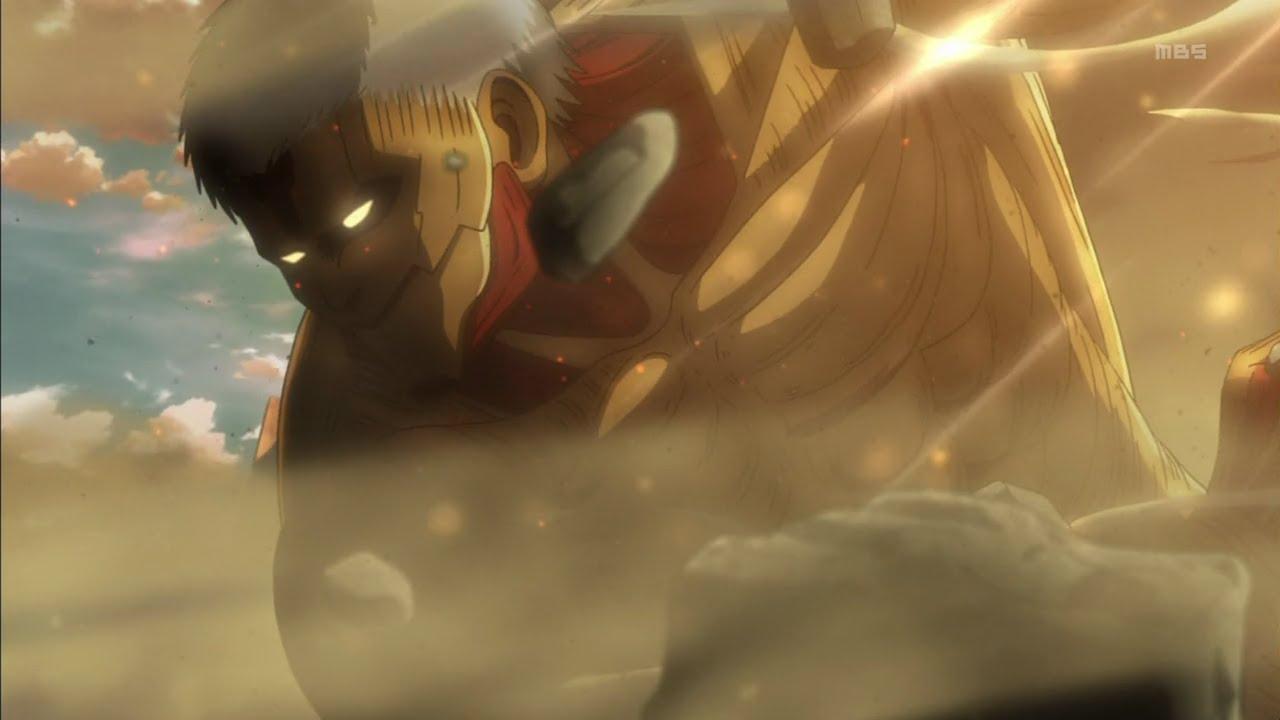 Attack On Titan Enter Armored Titan English Dub Youtube