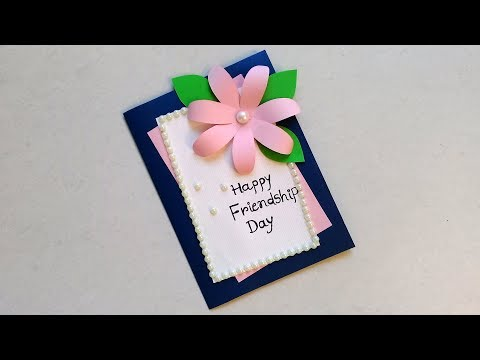 Simple yet Very Beautiful Handmade Friendship Card..| DIY Friendship Day Card.