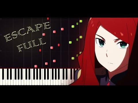 Darling in the FranXX ED5 - Escape (FULL) [Piano tutorial + SHEETS] // Synthesia