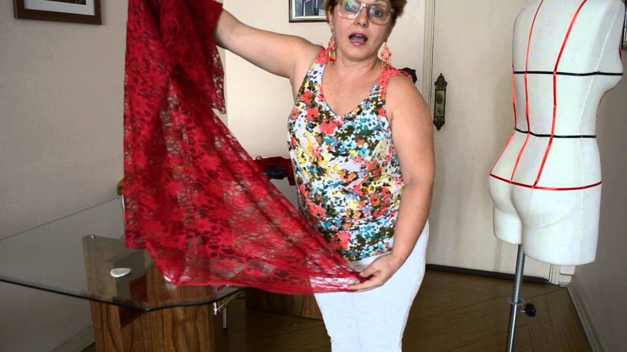 Fazer vestido de renda guipir