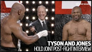 Mike Tyson and Roy Jones Jr hilarious joint interview after their exhibition