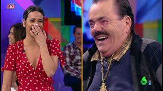 'El Risitas' se parte de risa con Cristina Pedroche antes de que cuente su chiste