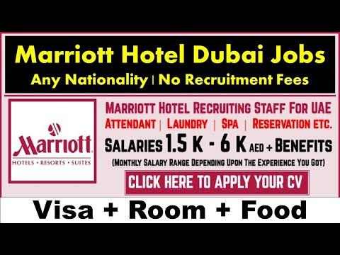 Marriott Hotel Jobs In Dubai – UAE 2021