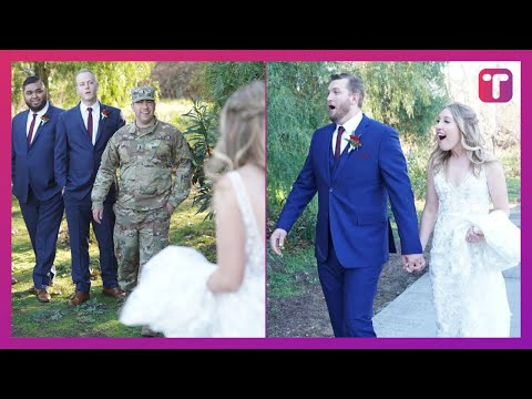Soldier Deployed Overseas Surprises Best Friend On Wedding Day