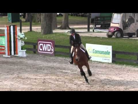 Sally Hinkle Russell and Donut W 7YOs 4th Place HITS Ocala 27Feb15