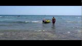 Repeat youtube video Moraira Fun, Spass am Strand mit einem Sevylor K300 Kanu