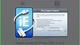 iEXPLORER FOR iOS  registration code