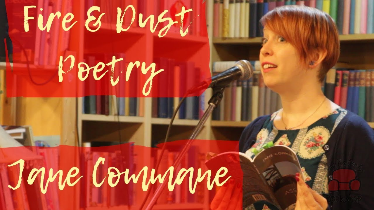 Poet Jane Commane performs at The Big Comfy Bookshop