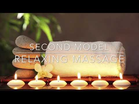 Relaxing massage with hotstone
