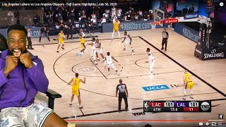 LEBRON CLUTCH SHOT! Los Angeles Lakers vs Los Angeles Clippers - Full Game July 30, 2020