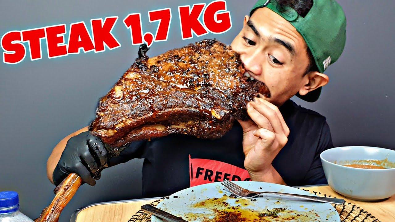GILAAAA!! MUKBANG STEAK SAPI TOMAHAWK 1,7 KG SPECIAL IDUL ADHA