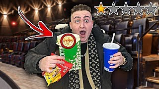 Watching a MOVIE At The WORST REVIEWED MOVIE THEATRE In My City!! *I HAD TO SIT ON THE FLOOR* 1 STAR