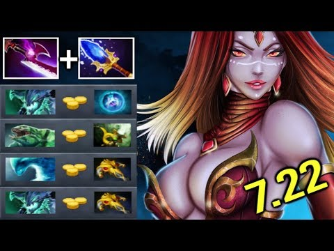 EPIC Pro Scepter Lina Pure Damage vs Magic Resistance 1 Sec Dragon Crazy Gameplay 7.22 Dota 2