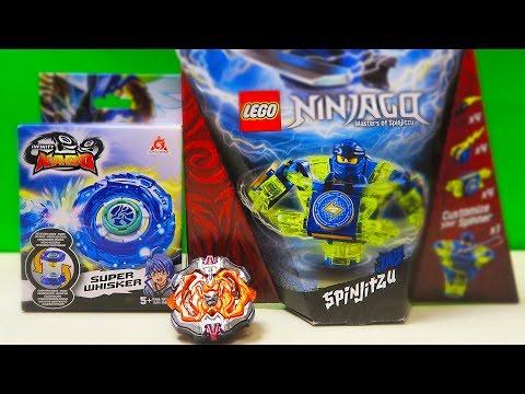 СМЕРТЕЛЬНАЯ БИТВА! LEGO VS Beyblade Burst & Infinity Nado Ninjago Masters Of Spinjitzu волчки