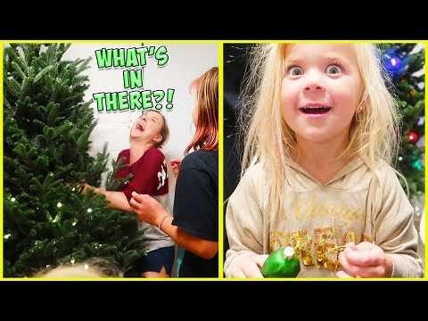 WHAT'S HIDING INSIDE OF OUR CHRISTMAS TREE?!
