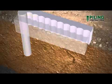 Secant Pile Wall Construction Methodology