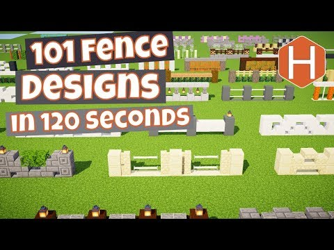 101 Fence Designs In 260 Seconds Minecraft