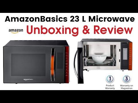 AmazonBasics 23 L Convection Microwave Black Unboxing & Review