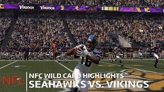 Seahawks vs. Vikings | NFC Wild Card Highlights | Madden 16