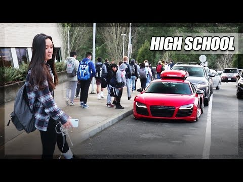 Picking Up Friend From High School In My AUDI R8 V10!