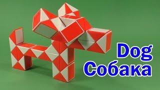 СОБАКА | DOG | Змейка Рубика 48 | Rubik`s Snake 48 | АНТИСТРЕСС | ANTISTRESS