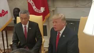 PM Lee and US President Trump speak to the press ahead of their talks at the White House thumbnail