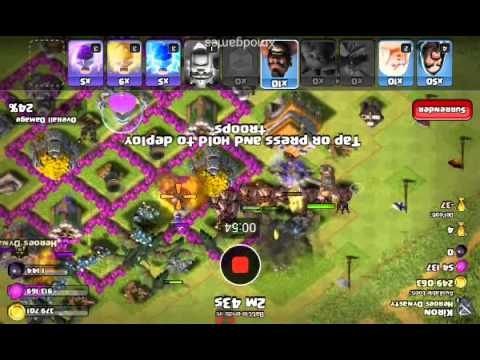 Clash of clans xmod sandbox attack I KILLED IT SOO