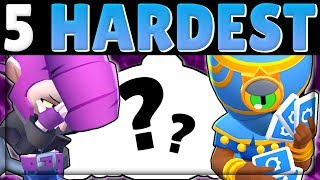 3 Top TIPS u0026 Best Maps for the 5 HARDEST Brawlers to Push in Brawl Stars! | Part 2