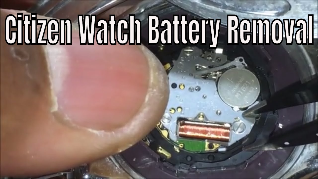 How To ReplaceThe Battery On Your Citizen Eco Drive ...