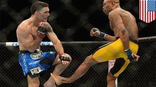 Андерсон Сильва сломал ногу в поединке с Крисом Уэйдманом(В жестоком поединке под эгидой UFC Крис Уэйдман подтвердил свой статус чемпиона в среднем весе, во второй..., 2014-01-02T13:36:01.000Z)