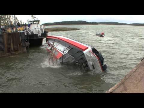 Selfrighting test of Watercat 1500 Patrol