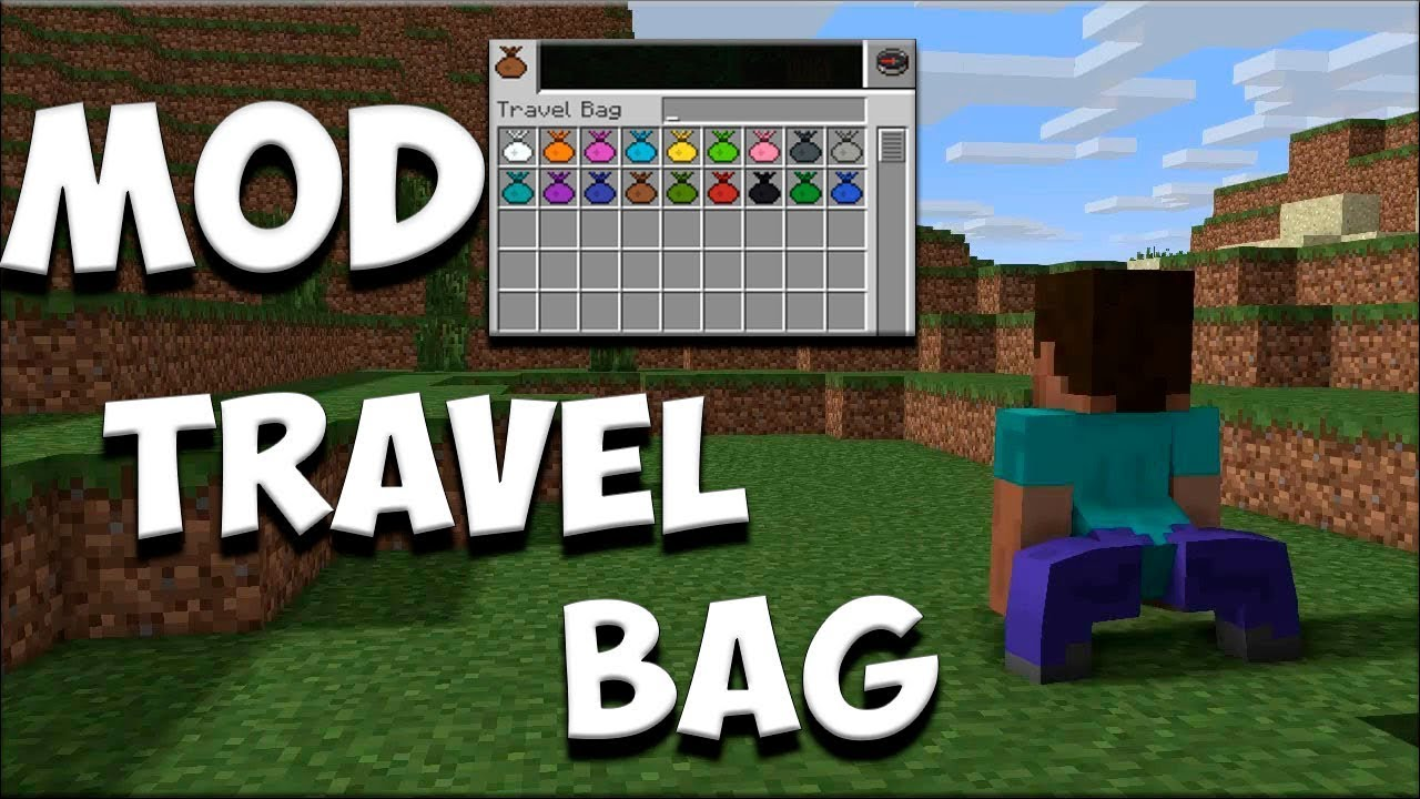 TRAVEL BAG MOD  | MINECRAFT MOD 1.15.2   | SUPER MOCHILAS MUY UTIL