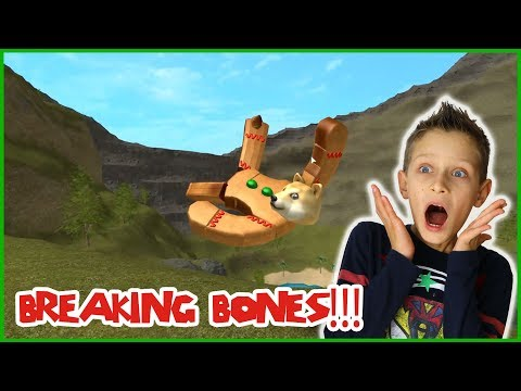 Breaking Bones in Roblox Freefall!!!