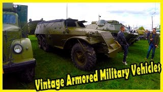 Vintage Soviet Armored Military Vehicles of WW2. Military Trucks and Boats of WWII