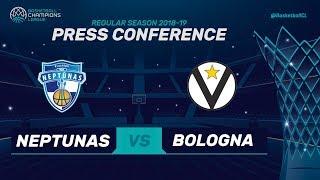 Neptunas Klaipeda v Segafredo Virtus Bologna - Press Conference - Basketball Champions League