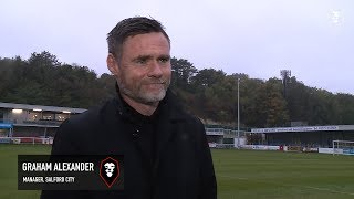 Dover Athletic 1-4 Salford City - Graham Alexander post-match interview