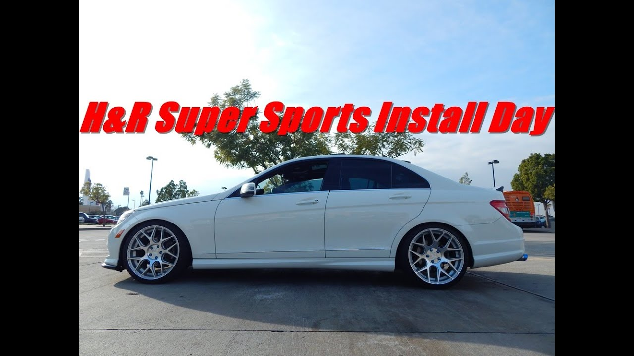 2011 Mercedes C300 H U0026r Lowering Springs Install Day