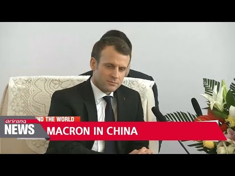 Macron urges cooperation Silk Road project on China visit