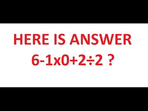 Answer for  6-1x0+2÷2 ?