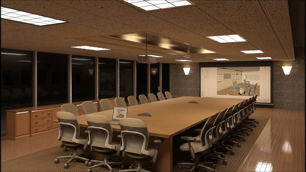 Modern Simple Conference Room Design - YouTube