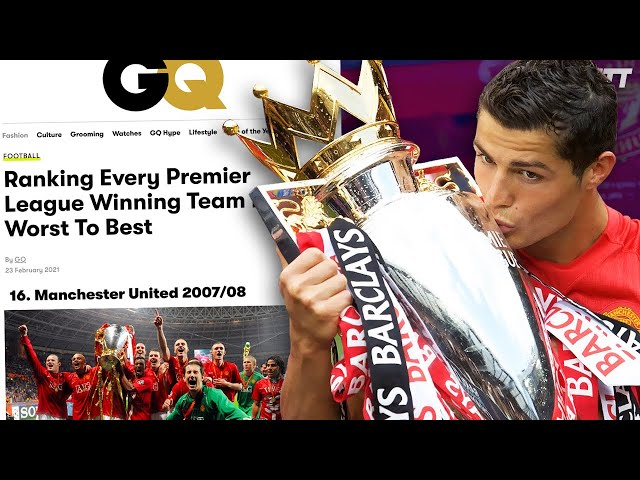 REACTING TO GQ'S PREMIER LEAGUE WINNING TEAMS RANKED BEST TO WORST! | #WNTT